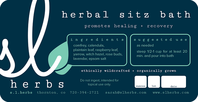 Herbal Sitz Bath