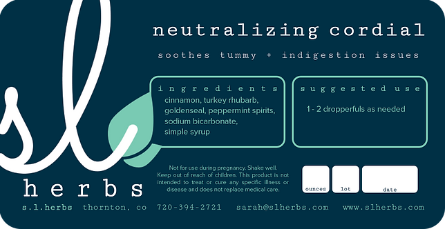 Neutralizing Cordial