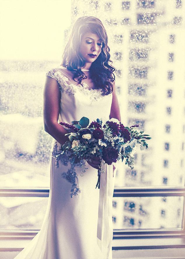bride and city