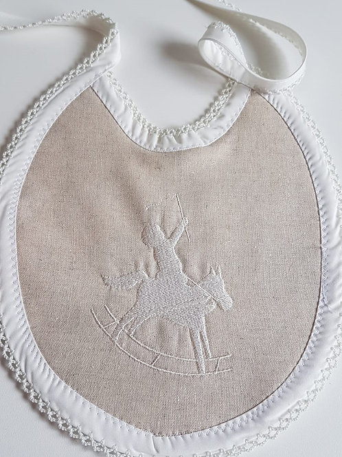 BABY LINEN BIBS - EMBROIDERED DESIGNS