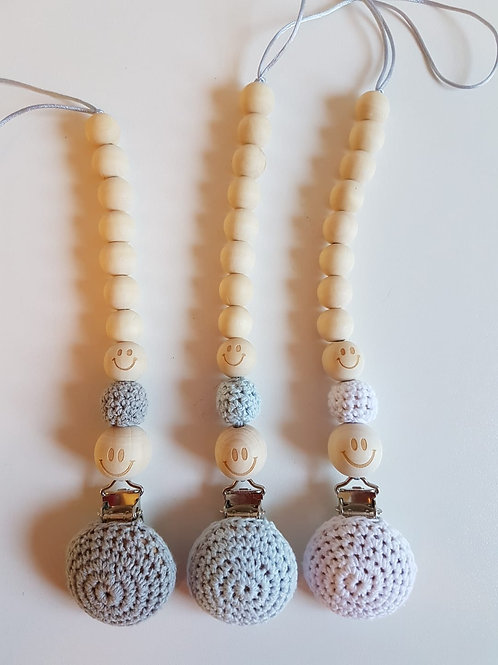 CROCHET DUMMY CHAINS - WITH ORGANIC WOODEN BEADS