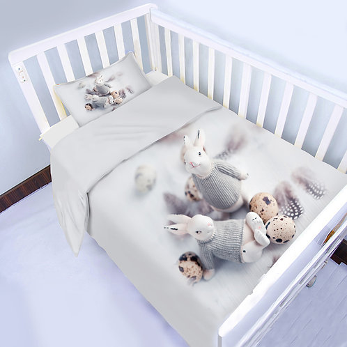 COT DUVET SET - 3 piece