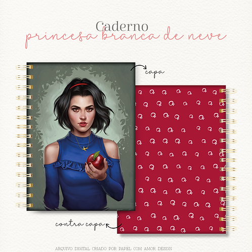 Caderno Princesa Branca de Neve