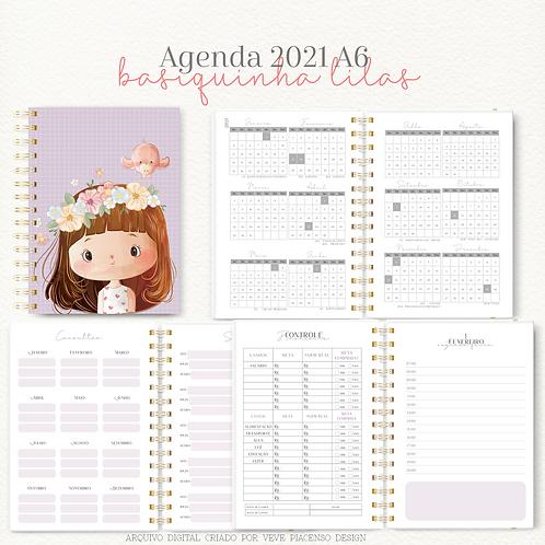 Agenda Basiquinha A6 - Lilás