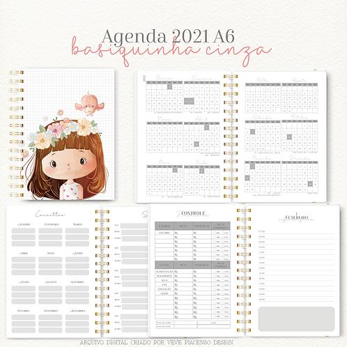 Agenda Basiquinha A6 - Cinza