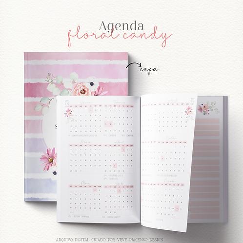 Agenda Floral Candy A5 2021 - Costura