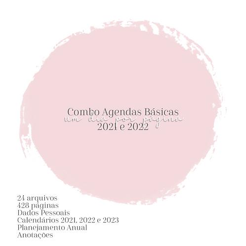 Combo Agendas Básica A5 1DPP 2021 e 2022