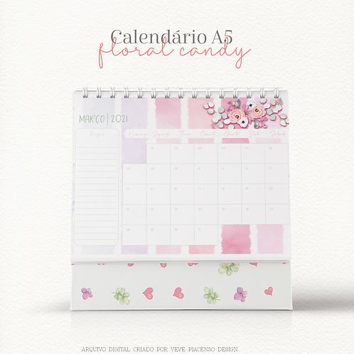 Calendário Floral Candy A5 2021