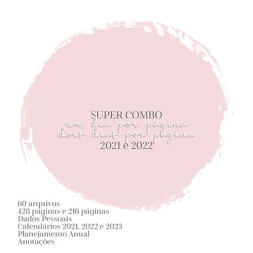 SUPER Combo Agendas Básica A5 2DPP/1DPP 2021 e 2022