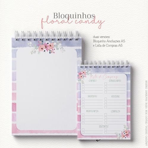 Bloquinhos Floral Candy A5 e A6