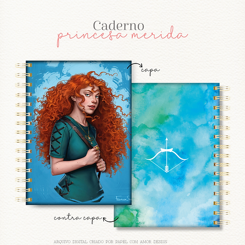 Caderno Princesa Merida