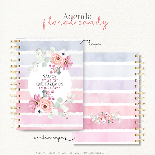 Agenda Floral Candy A5 2021
