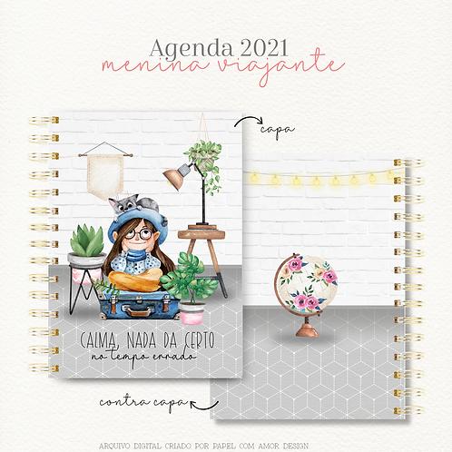Agenda Menina Viajante A5