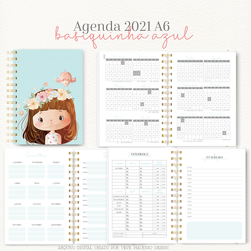 Agenda Basiquinha A6 - Azul