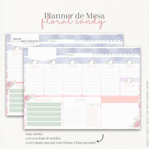 Planner de Mesa Floral Candy A4 2021