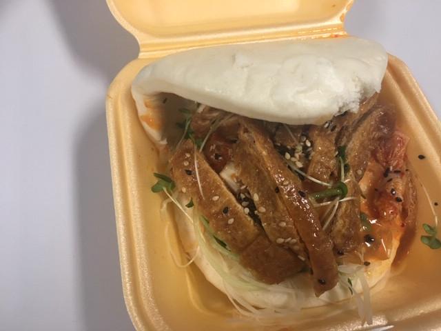 Bao Bun with Kimchi and Tofu