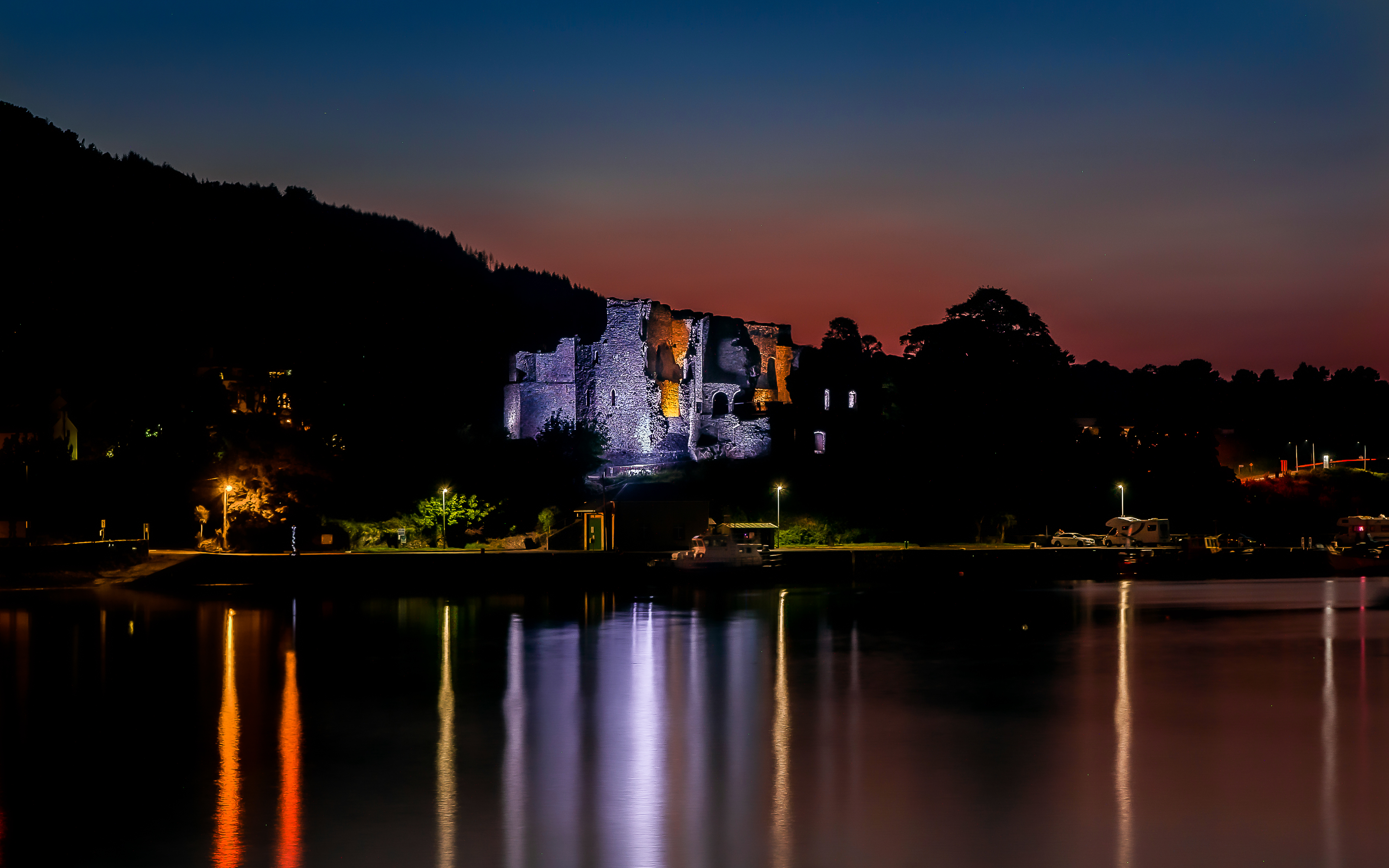 King John's Castle and Carlingford Harbour after Dark