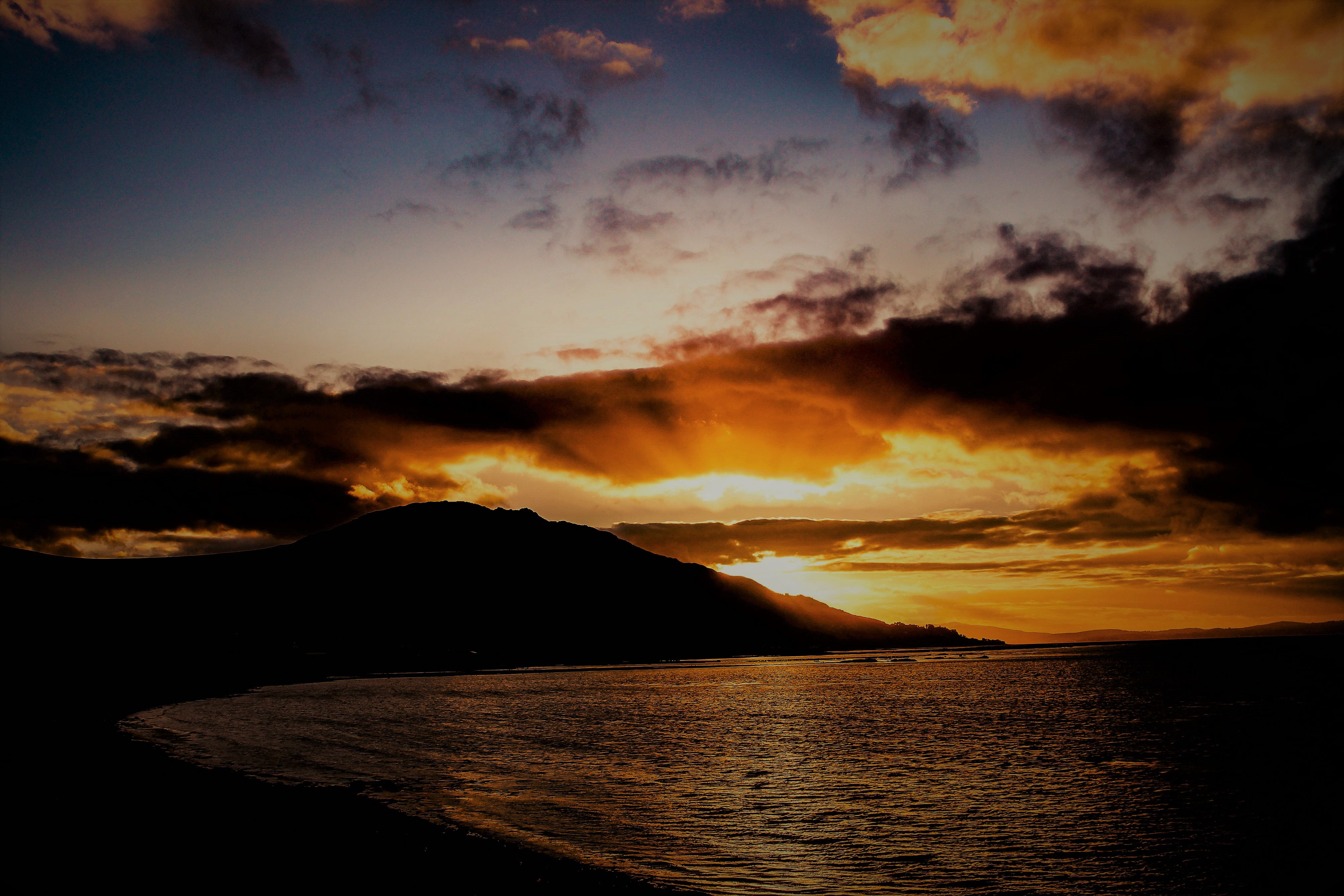 Sunset on Carlingford Lough from Hamills Pier