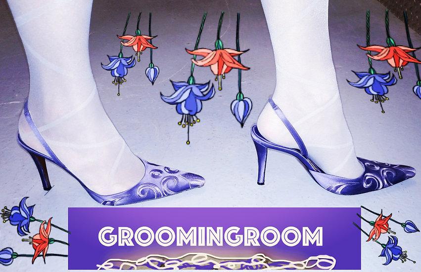 Wlater Steiger Purple sling back slipper heels