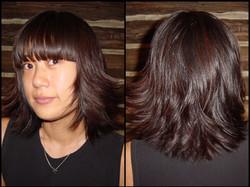 Adina straight bang textured layers
