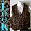 Thumbnail: Knit vest 80s vintage brown leopard print Medium.