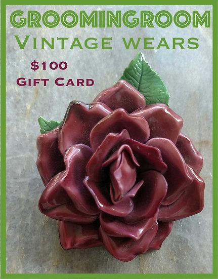 $100 Gift Card for Groomingroom Vintage