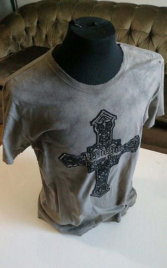 Mens-affliction-jealous-souls-cross--wings-felted-design-grey-tee-shirt