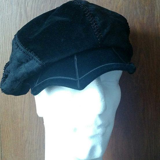 Arkivestry velvet handmade steampunk newsboy hat