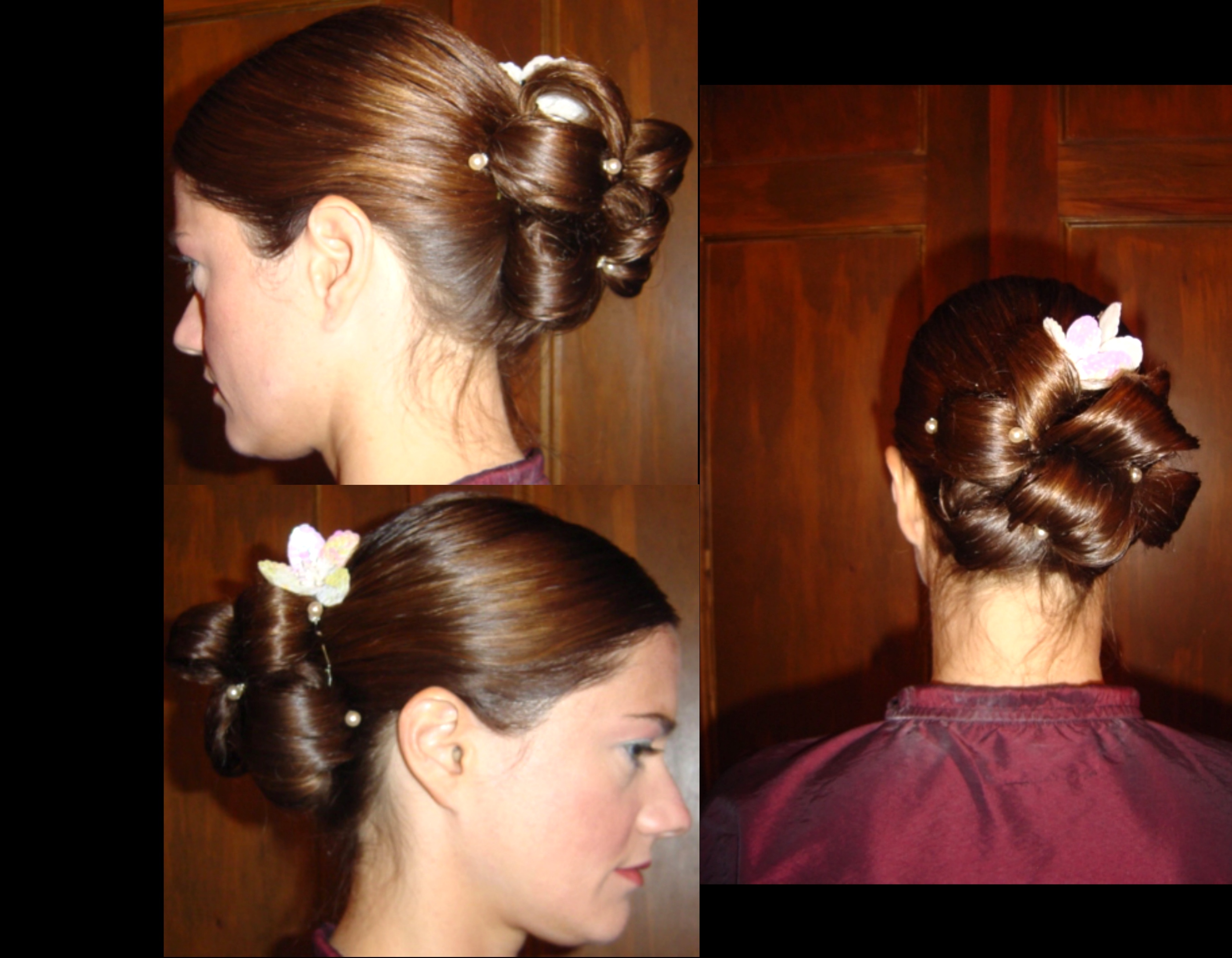 Kim wedding chignon