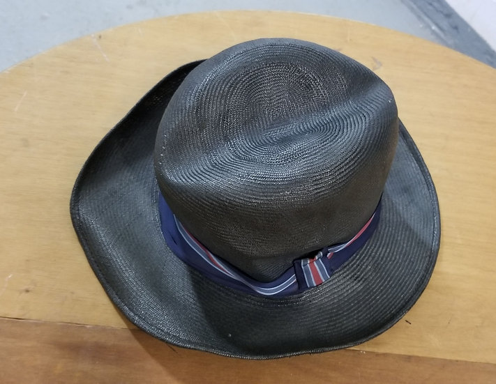 Straw fedora hat by Craig Robinson New York