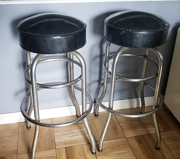 1950's Set of Bar stools in black