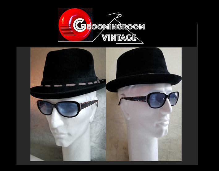 Melton NY vintage pork pie hat in black velour