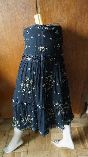 Bollywood Indian Peasant maxi black skirt size 2