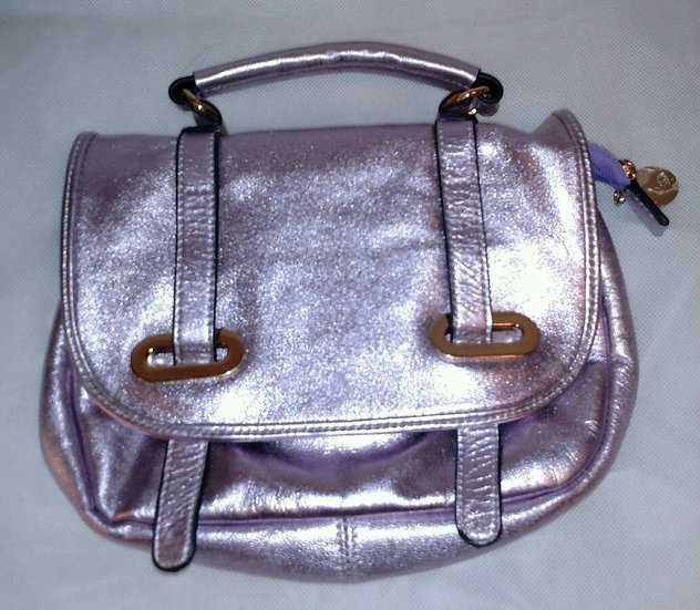 Cynthia Rowley Pink Metallic Leather Purse