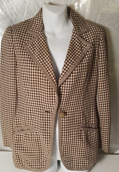 Blassport Check wool gabardine blazer