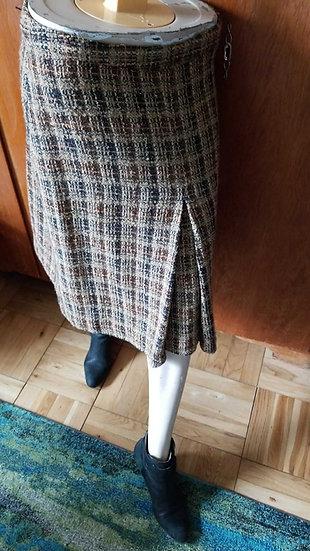 Barney's italian made brown wool skirt