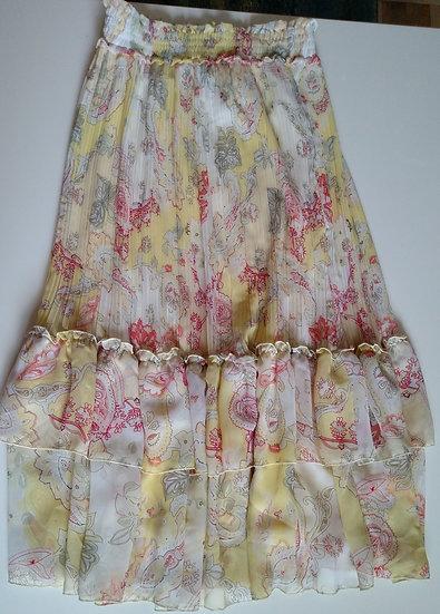 *Floral peasant skirt long length