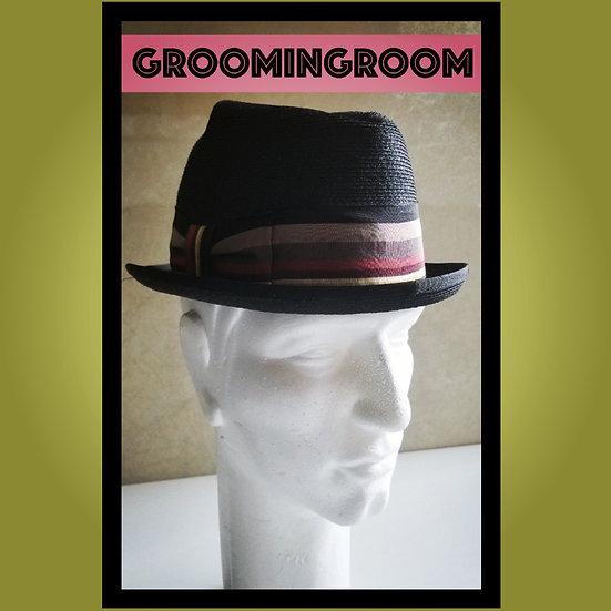 Men's vintage 50's Adam Royal milan weave fedora hat 7 1/8