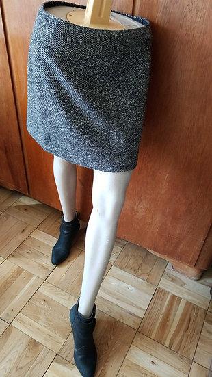 Wool Jcrew mini skirt in black and white fleck