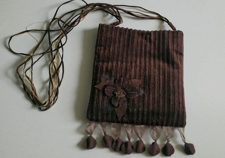 Minima Moralia  brwn boho handmade In Italy purse