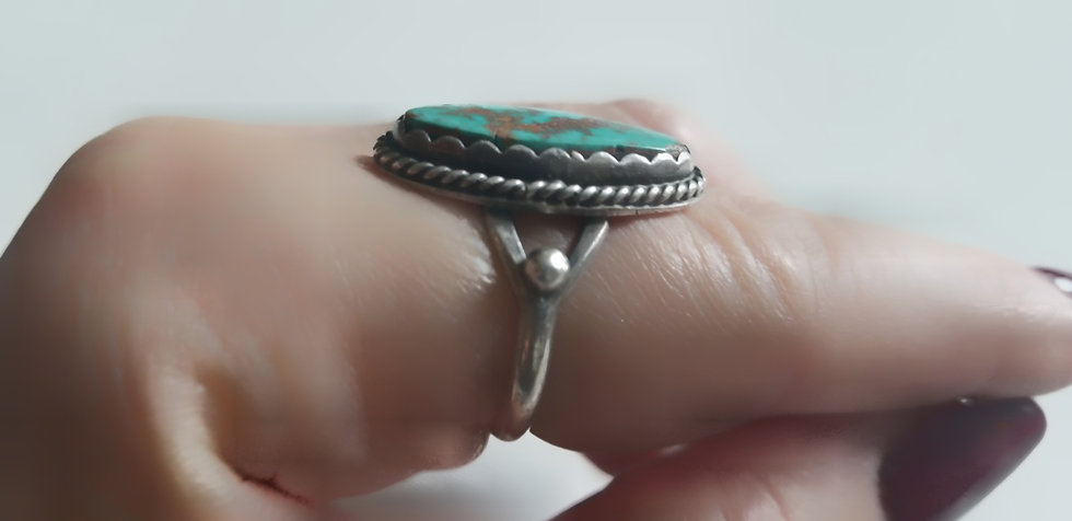 Silver Turquoise vintage ring