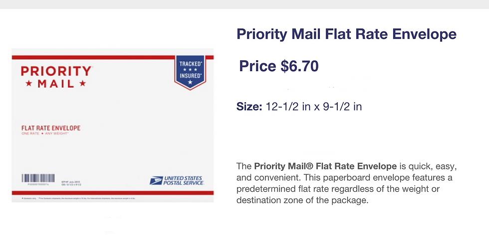 Priority letter size envelope