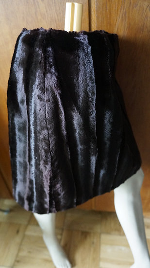 Faux Fur skirt Rocco Barocco brown made in Italy
