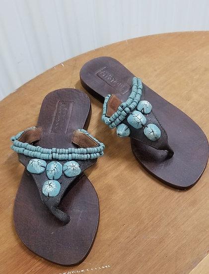 Boho Hippie Mystique Turquoise vintage sandals