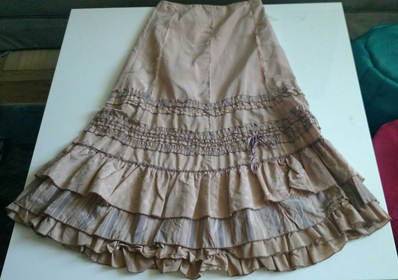 Boho peasant tiered skirt made in Italy