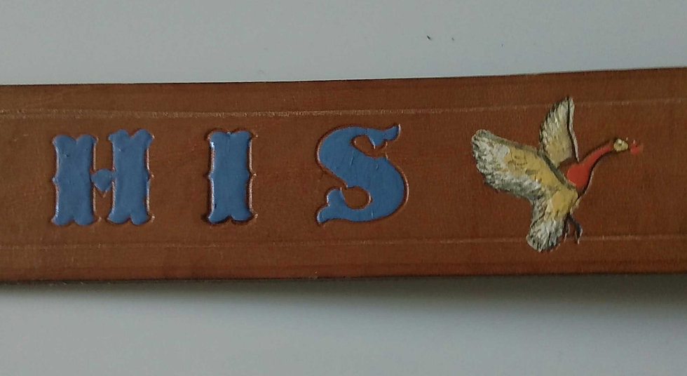 "1987 handmade 44"" HIS leather belt"