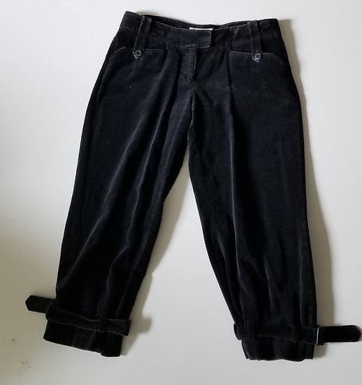 Knickers in black cotton velvet size 8