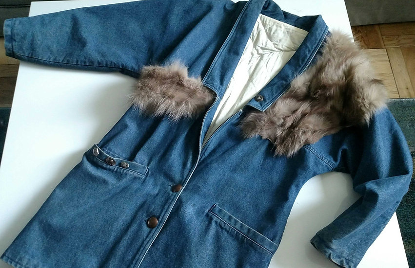 Fiorentini Italy 1980 denim coat
