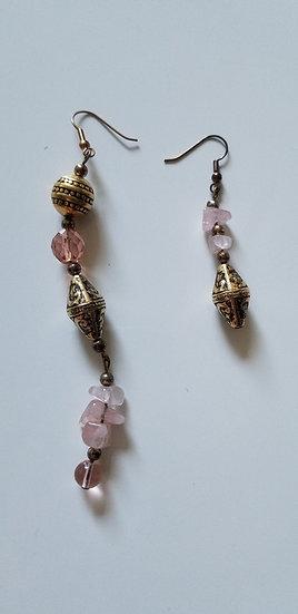 Earrings assymetrical 1990 design
