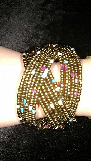 Beaded large bracelet